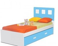 Boston Twin Bed - Blue
