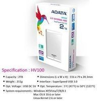 Adata Hard Disk Usb 2 Tb Hv100 2.5