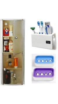 Crystal Bathroom Cabinet Tooth Brush Holder And Soap Dishes