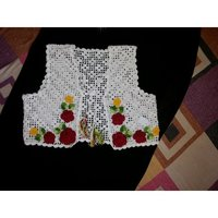 Crochet Ivory Based Half Jacket