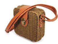 Candy Color Straw Bag Square Beach Shoulder Bag