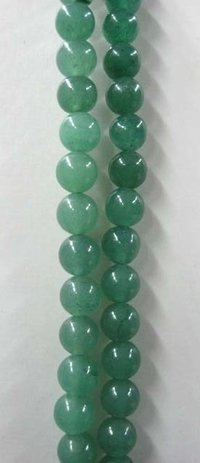 Green Jade Round Shape Beads