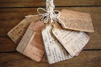 Handmade Paper Tag