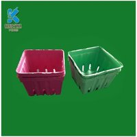 Recycled Paper Pulp Molded Colorful Biodegradable Fruit Baskets