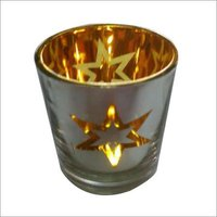 Silver And Gold Mercury Glass Votive