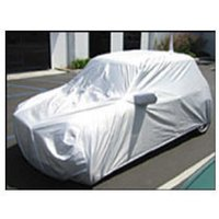 White Plastic Car Cover