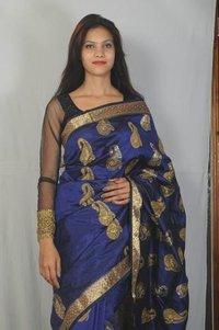 Hand Work Silk Saree With Blouse