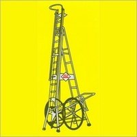 Telescopic Tower Ladder With Big Wheels
