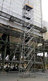 Tiltable Tower Ladder With Adjustable Platform