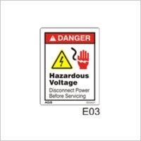 Hazardous High Voltage Sign