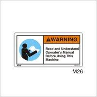 Read Manual Warning Signs