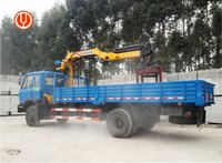Dongfeng 4*2 7 Ton Knuckle Boom Truck Mounted Crane
