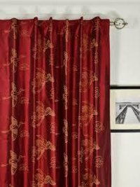 Embroidered Window Curtains