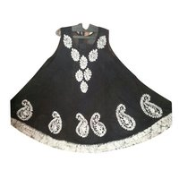 Black Batik Umbrella Dress