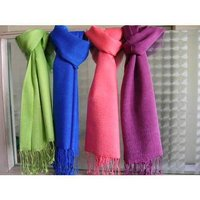 Silk Wool Plain Stoles