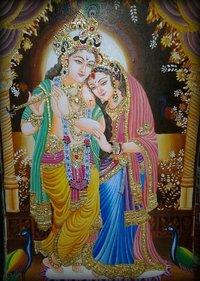Exclusive Radha Krishna Gold Paintings