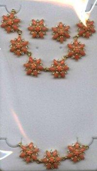 Coral Jade Necklace Sets