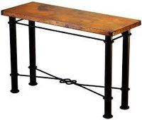 Copper Metal Console Tables