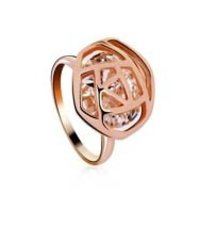 Rose Shaped Fashion Ring Made With Swarovski Elements