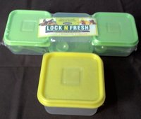 Plastic Lunch Box 400 Ml Set Of 3 Piece