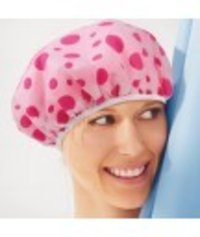 Shower Cap Bath Shower Reusable Clear Plastic