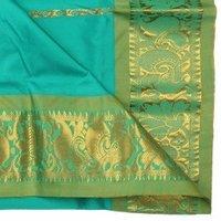 Kanchipuram Pattu Pavadai Dress Fern Green (15 To 22years)