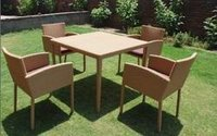 Outdoor Garden Wooden Table Chair
