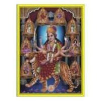 Durgaji Pictures Poster In Gold Foil 24k