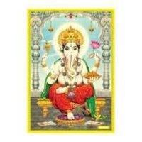 Ganeshji Poster In Gold Foil 24k