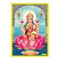 Laxmiji Poster In Gold Foil 24k