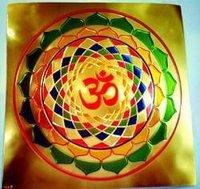 Om Poster In Gold Foil 24k