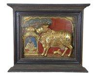 Tanjore Painting - Kamadhenu-Antique Finish