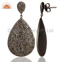 925 Silver Pave Diamond Earring