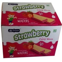 Crispy Strawberry Wafers