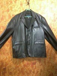 Formal Black Leather Jacket
