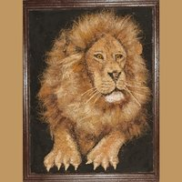 Lion In Coir Craft
