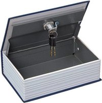 Metallic Dictionary Cash Box Safe With Key For Cash/Jewellery (Blue)