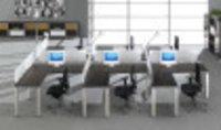 L Shaped Modular Workstation Cluster