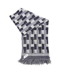 Wool Silk Throw Shawl