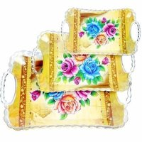 Colored Serving Tray Set