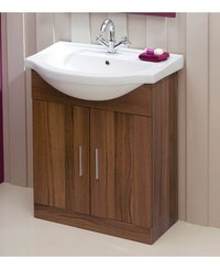 Wooden Cabinet Plus Wash Basins Combo