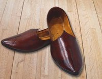 Brown Leather Shoe Plain Tip