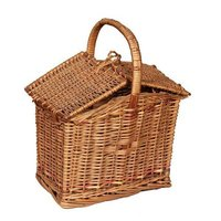 Handicraft Hut Shaped Wooden Basket