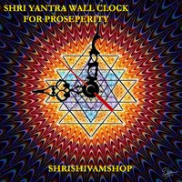 Shri Yantra Wall Clock Without Glass
