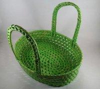 Palm Leaf Oval Basket Big