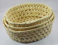 Palm Leaf Oval Bowl Set