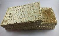 Palm Leaf Rectangle Box