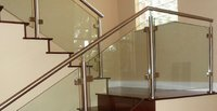 Stainless Steel Glass Staircase Railing