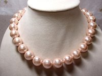 Artificial Pearls Necklace Seas Pale