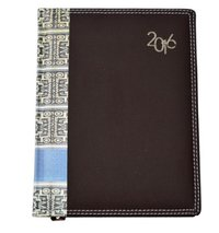 Brown Foamed Executive Diary With Print Bordered